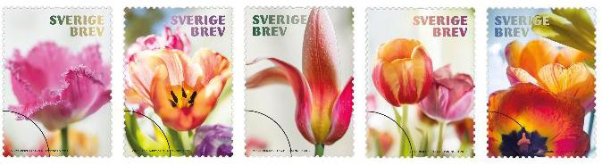 Sverige Brev frimärken med tulpaner